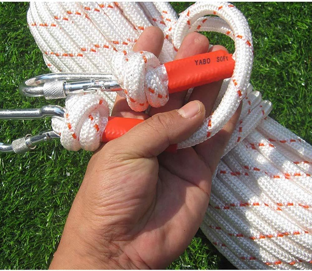 Kletterseile Kletterseile Kletterseile Core 12mm Weiß Nylon Bold Fire Escape Rope Wire Core Safety Rope Emergency Lifeline Outdoor Descending,5M B07Q486GMN Bergseile Umweltfreundlich f1c0d7