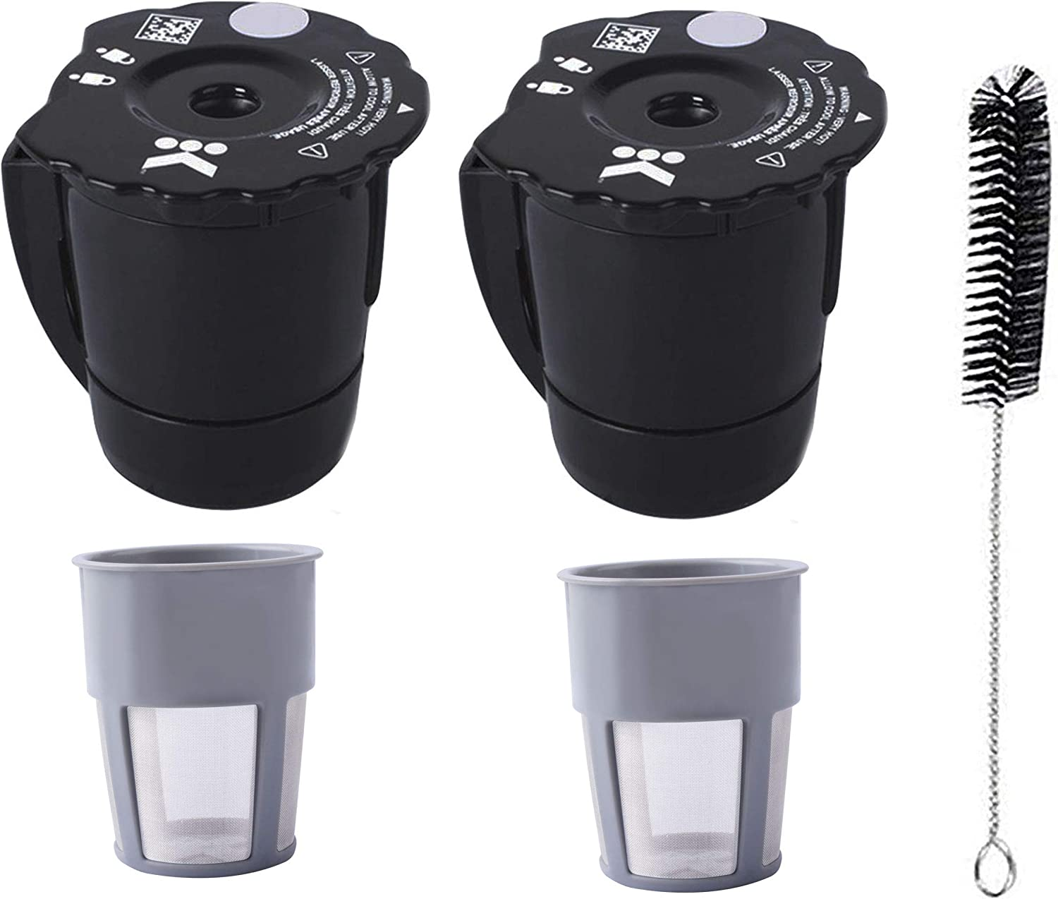 Universal Reusable Coffee Filter Compatible with Keurig My K Cup 2.0 K300 K250 K350 K375 K400 K450 K475 Coffee Makers with Extra Filter Pod Cleaning Brush