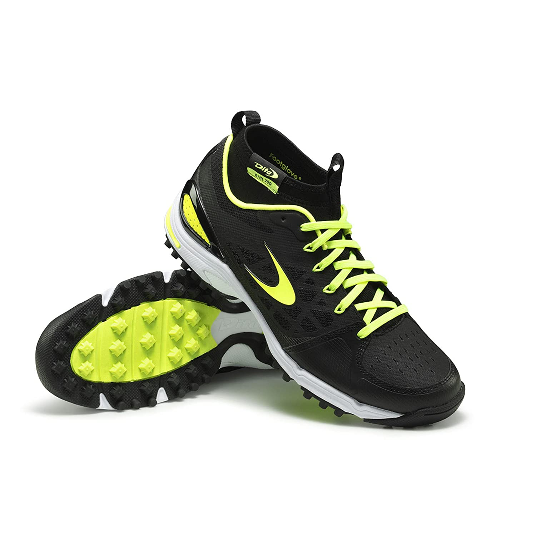 Dita STBL 700 High footglove Hockey Astro Shoe - Black/Yellow