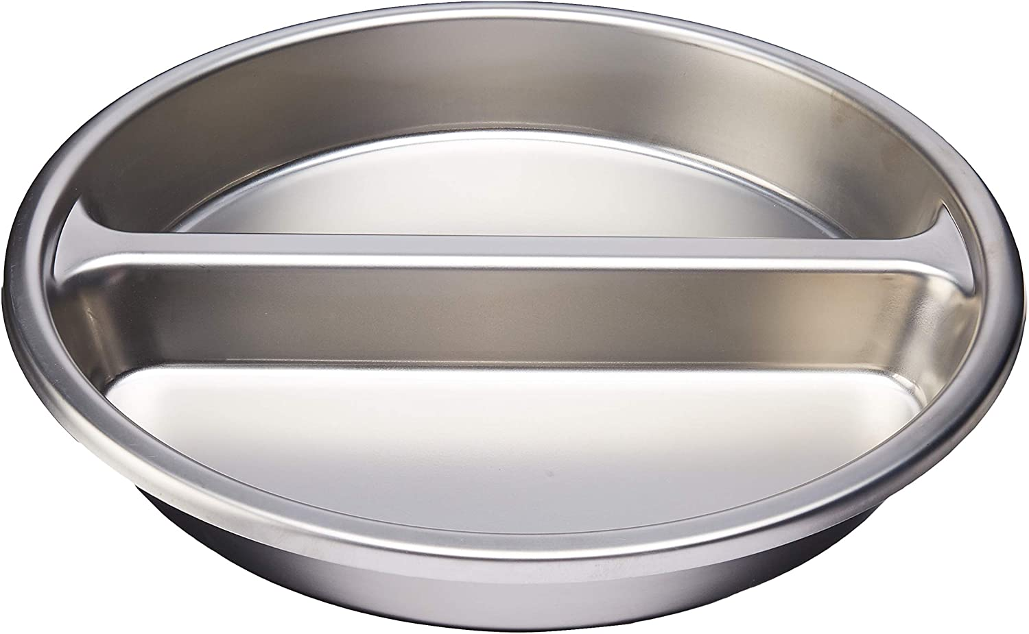 Winco Round Divided Food Pan, Stainless Steel