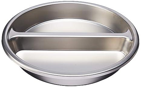 Amazon.com: winco spfd-2r Ronda Divided Alimentos Pan, Acero ...