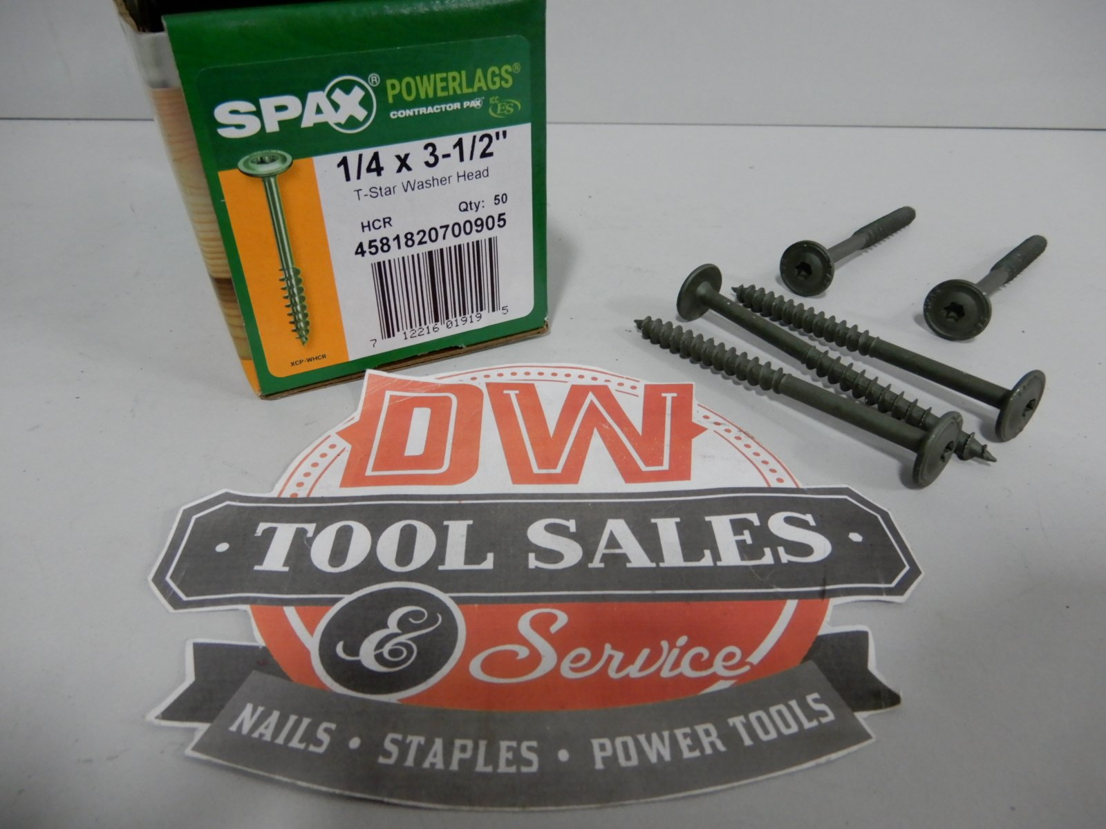 Spax Screws Made in USA 1/4'' x 3 1/2'' Washer Head Star Drive Exterior