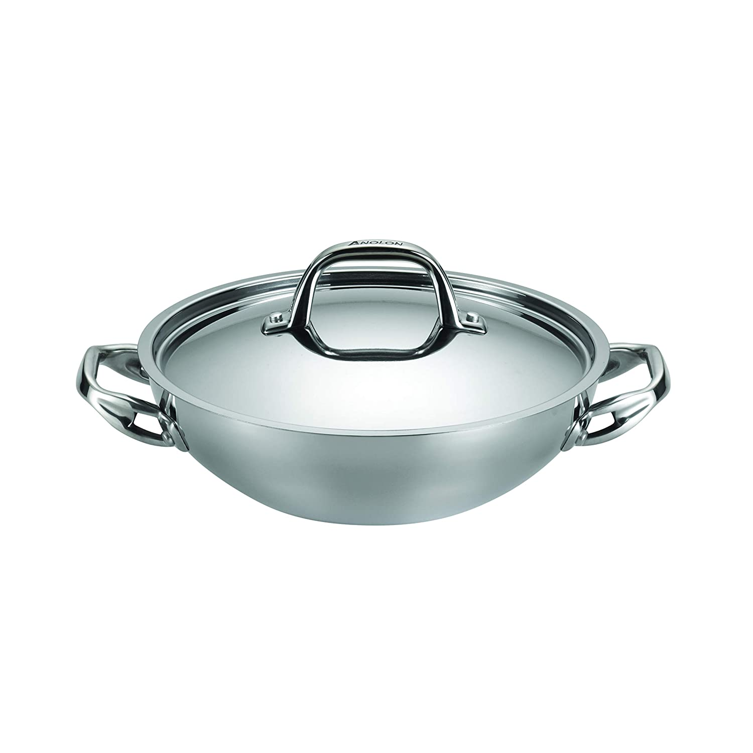 Anolon 30823 Cookware Covered Braiser Small Stainless Steel