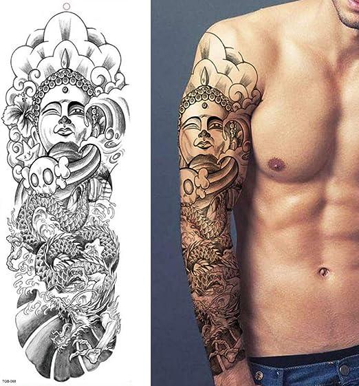adgkitb 2 Piezas Tatuajes temporales, Lobo, Tigre, Oso, Guerrero ...