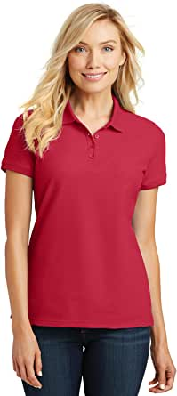 Port Authority Ladies Core Classic Pique Short Sleeved Golf Polo