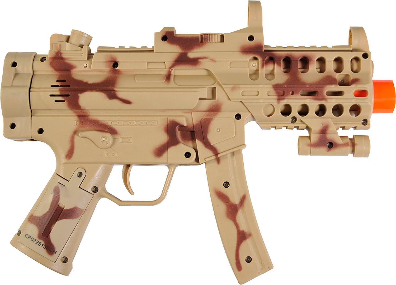 """Maxx Action Toy Hand Gun with 13/"""" Silencer with Electronic Sounds Lights"""