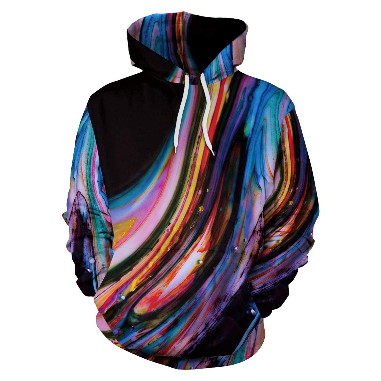 Mrsrui Mens Women Athletic Pullover Hoodies Sweatshirt by Mrsrui