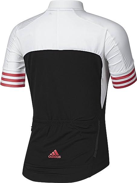 adidas Women s Cycling Jersey Adistar CD Zero 3 Short Sleeve - Black White   Amazon.co.uk  Clothing 93bf409c8