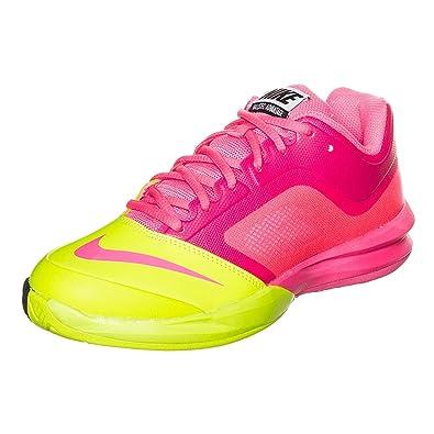 best service 9bd69 ab8a7 NIKE Dual Fusion Ballistec Advantage Ladies Tennis Shoe - Pink Yellow - UK8