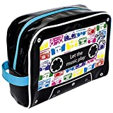 Trousse de voyage - Trousse de toilette - PVC Brillant - Cassette Audio - Let the music play