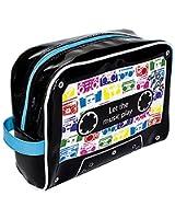 Trousse de voyage - Trousse de toilette - PVC Brillant - Cassette Audio - Let the music play