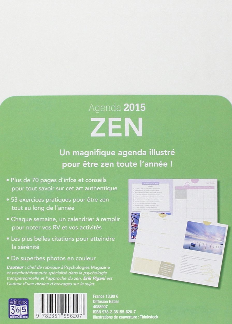 MON AGENDA PASSION ZEN 2015: 9782351556207: Amazon.com: Books