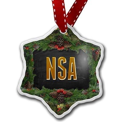 Amazon.com: Christmas Ornament NSA - Neonblond: Home & Kitchen