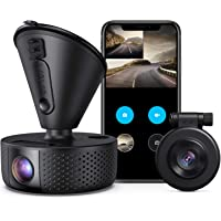 VAVA VA-VD002 Dual 1920x1080p Full HD Front and Rear Dash Camera with Wi-Fi, Night Vision, Parking Mode, G-Sensor, WDR, Loop Recording