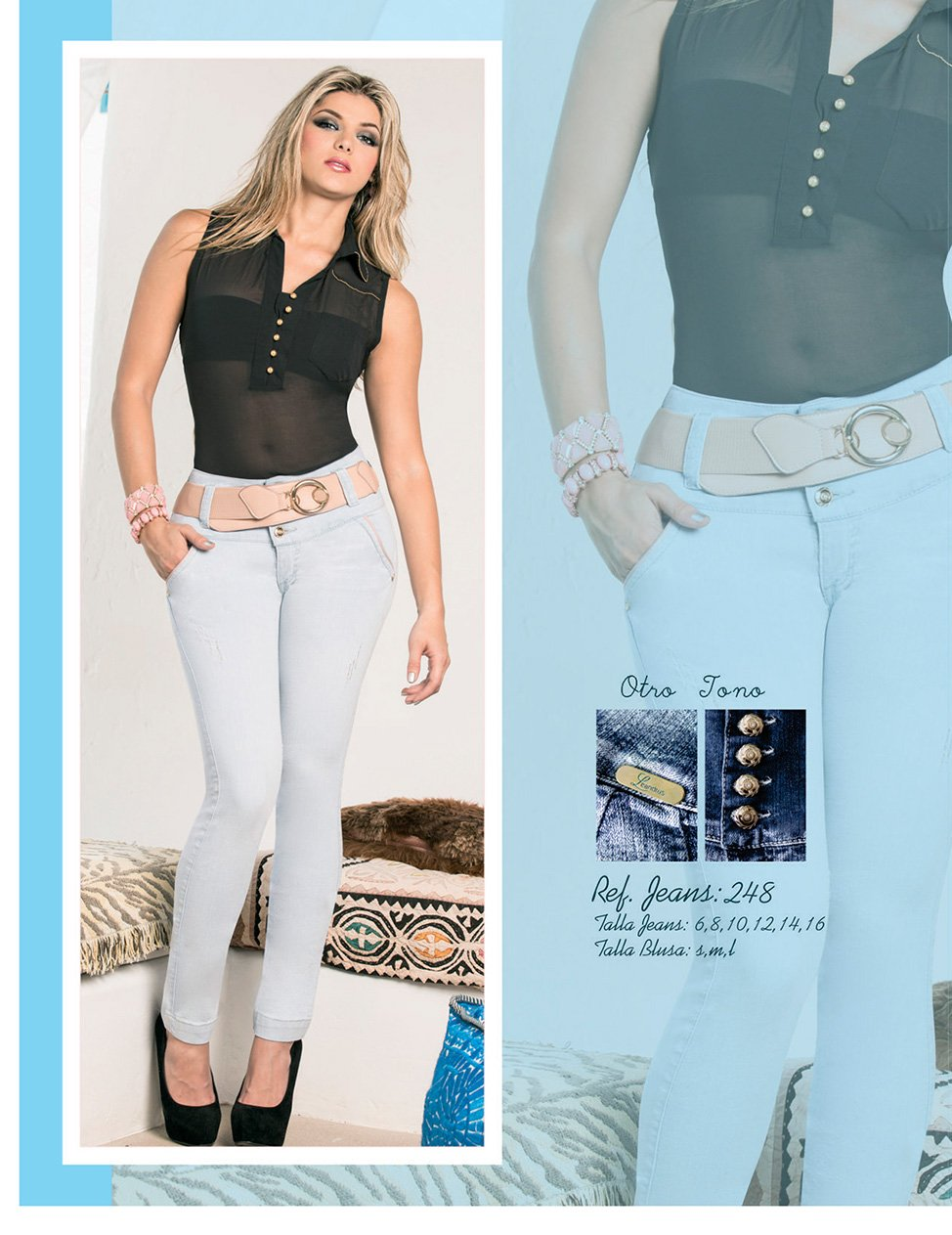 Amazon.com : Jeans Colombianos Levanta Cola Leandrus 248 Dark Blue - Us Size 7-8 : Everything Else