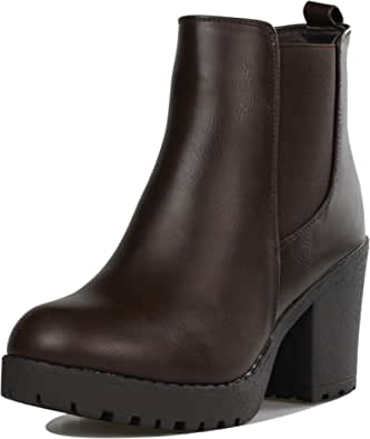 Details about  /Ladies Womens Block Heel Zipper Stretch Chelsea Ankle Boots Shoes 41//42//43 New D