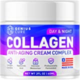 GENIUS Collagen Cream - Smart Anti Aging Face Moisturizer - Day & Night Wrinkle Cream - Hyaluronic Acid & Vitamin E - Cleanse, Moisturize, and Protect Your Skin 2oz