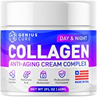 Collagen Cream - Anti Aging Face Moisturizer - Day & Night Wrinkle Cream - Hyaluronic...