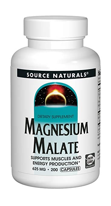 Source Naturals Magnesium Malate 625mg, 200 Capsules: Amazon.es: Salud y cuidado personal
