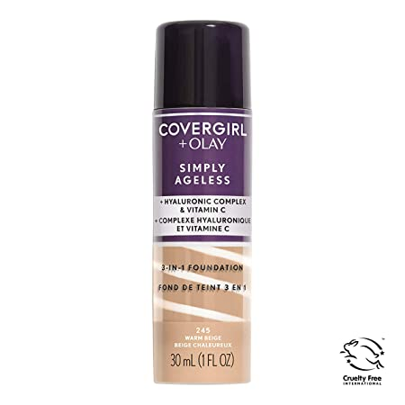 COVERGIRL Simply Ageless 3-in-1 Liquid Foundation packaging may vary , 1 Count