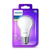 Philips LED Light Bulb (E27 Edison Screw 8.0W A60) - Warm White
