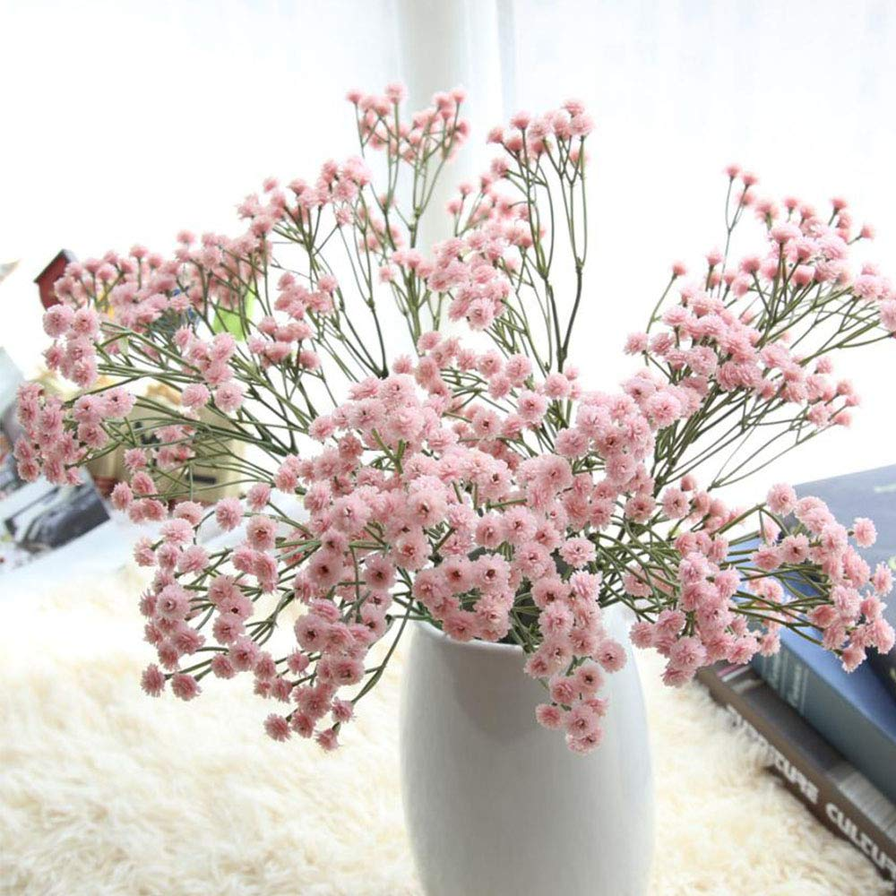 Motige Artificial Flowers,Gypsophila Artificial Flowers Baby Breath Fake Silk Flower for Bridal Bouquet Home Decor, Wedding, Parties, Offices, Restaurants