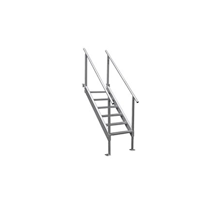 Extreme Max 3005.3846 Universal Mount Aluminum Dock Stair   6 Step