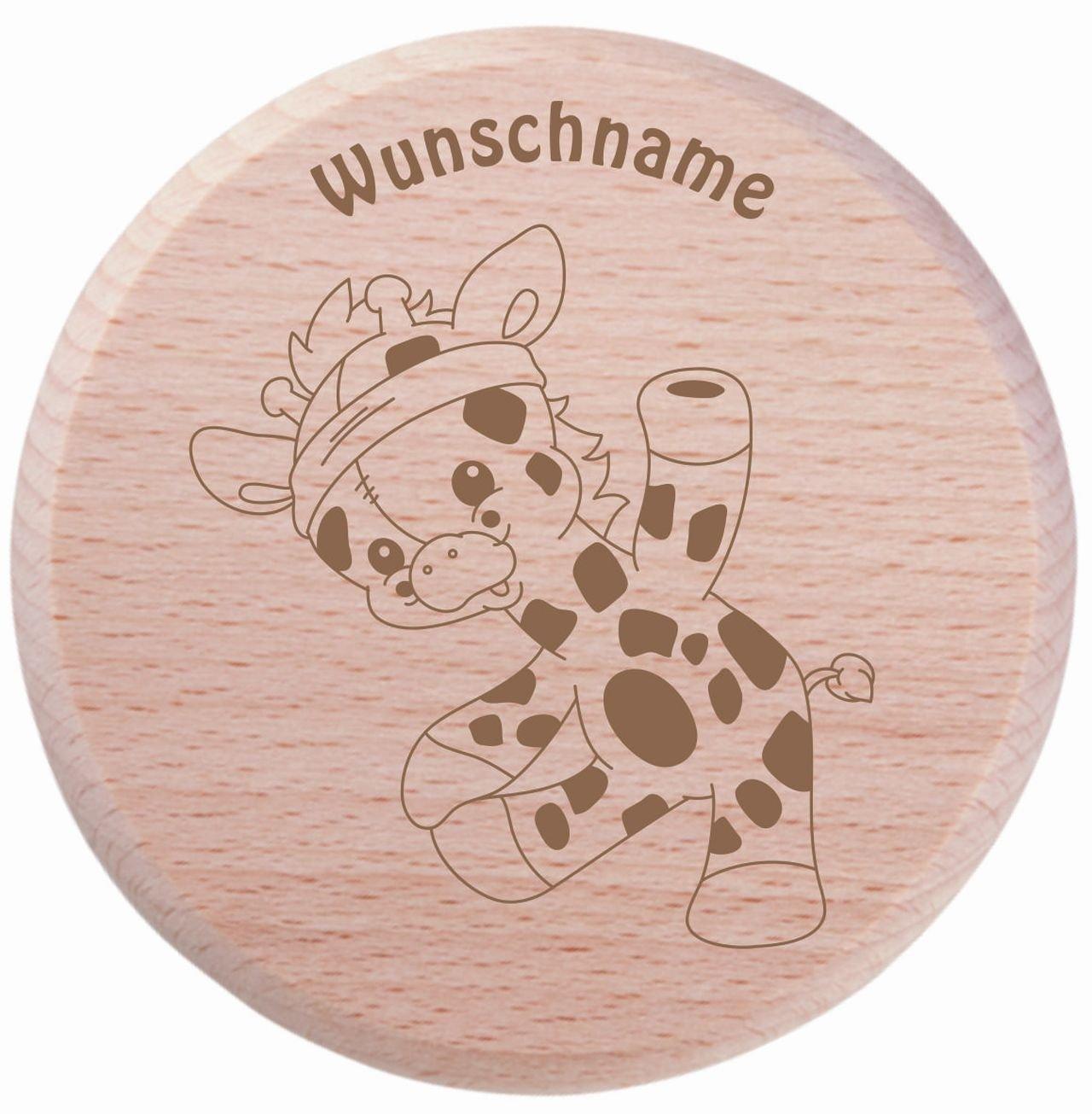 Farbklecks Collection - Trinkglas Deckel - Giraffe Motiv 9 - personalisierbar mit Namensgravur - Schutzdeckel - Glasdeckel - Insektendeckel - Insektenschutzdeckel - Glasabdeckung