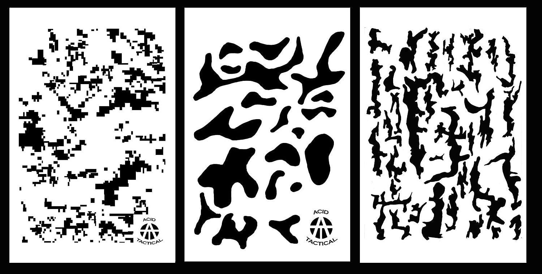 Acid Tactical® 3 Pack - 23cm x 35cm Camouflage Vinyl Airbrush ...