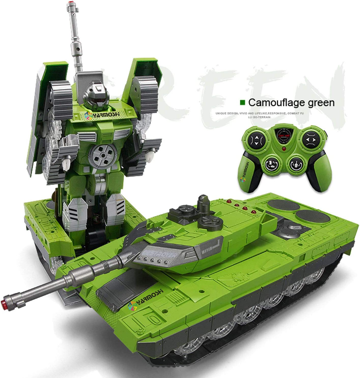 Fighting robot remote controlled shoots Bullets.