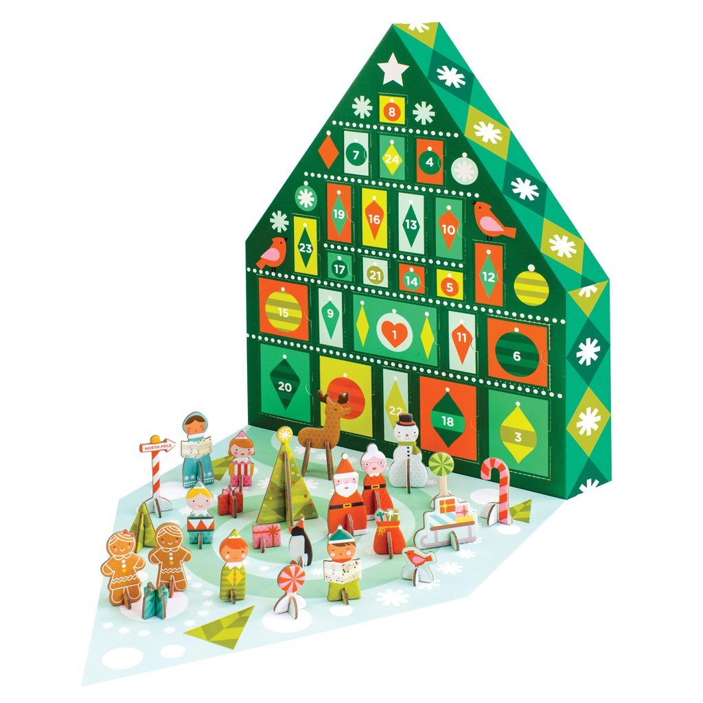 Petit Collage Tree Pop-Out Advent Calendar Petit Collage-NEW POAC-TREE