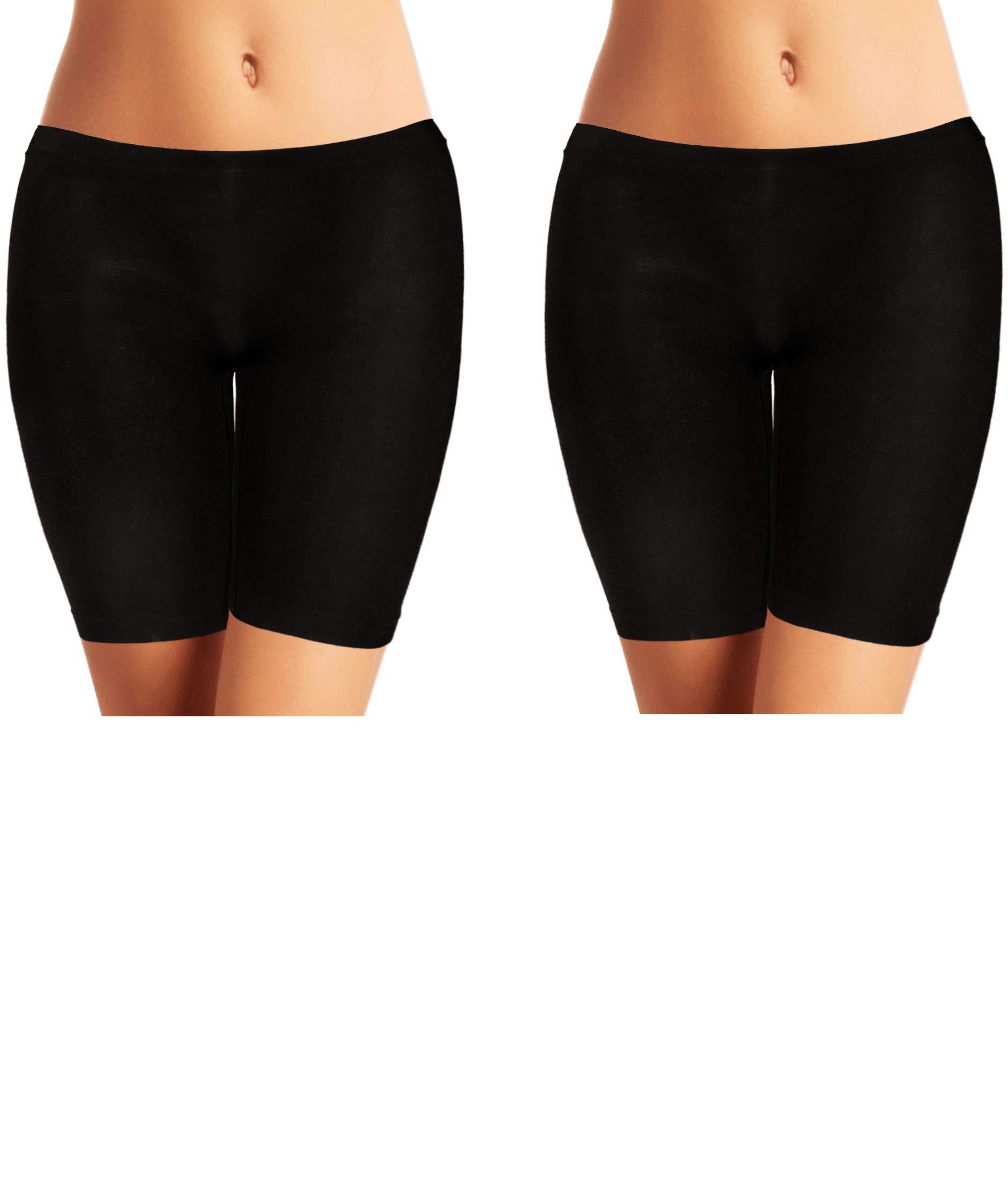 Emprella Biker Shorts Women, 2 Pack Bike Shorts, Spandex Slip Shorts Yoga Gym