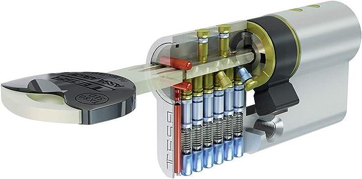 Tesa Assa Abloy, TX853030L, Cilindro de Alta Seguridad, TX80 ...