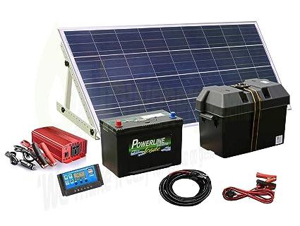 Kit con pannello solare da w con generatore di corrente