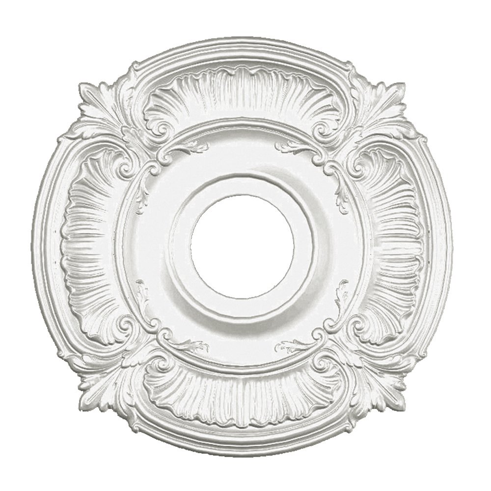 Focal Point Acanthus Medallion in Primed White (18-Inch)