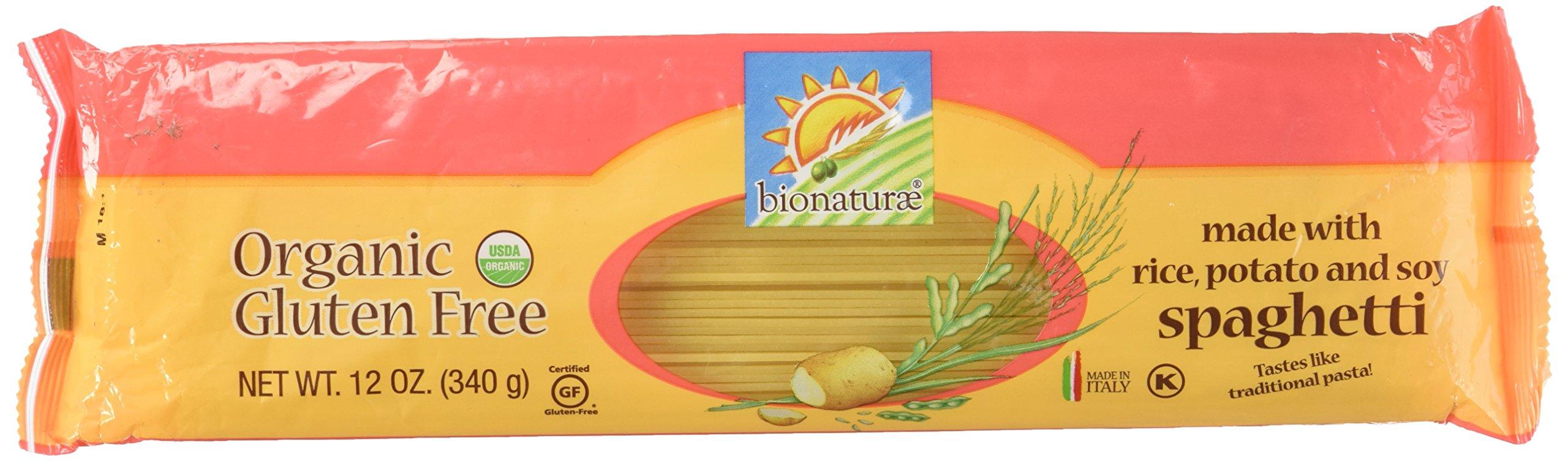 Bionaturae Organic Gluten Free Spaghetti Pasta, 12 Ounce - 12 per case.