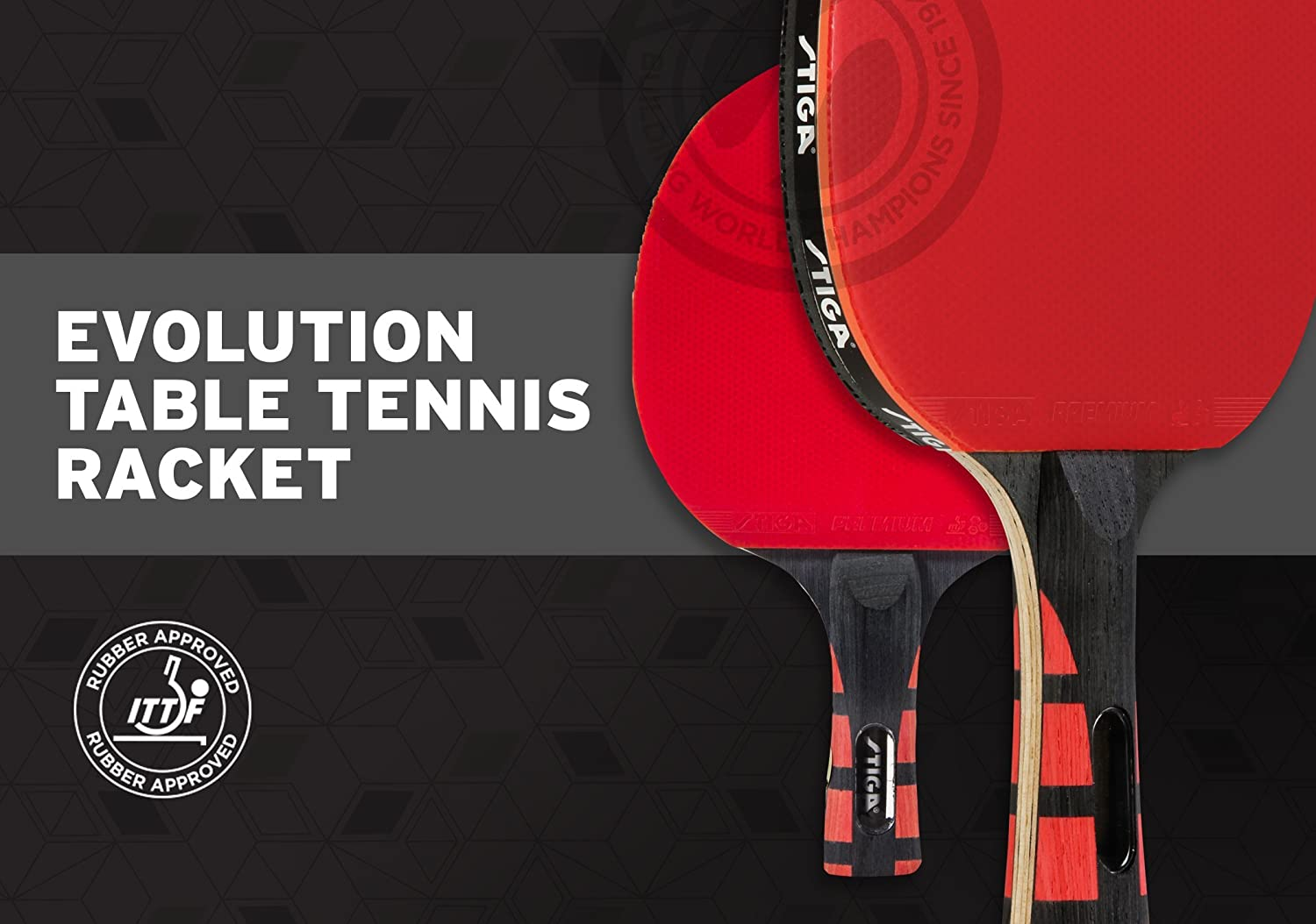 STIGA Evolution Table Tennis Racket by Stiga: Amazon.es: Juguetes ...