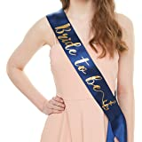 YULIPS Bride to Be Sash - Bachelorette Party Sash Bridal Shower Hen Party Wedding Decorations Party Favors Accessories (Navy