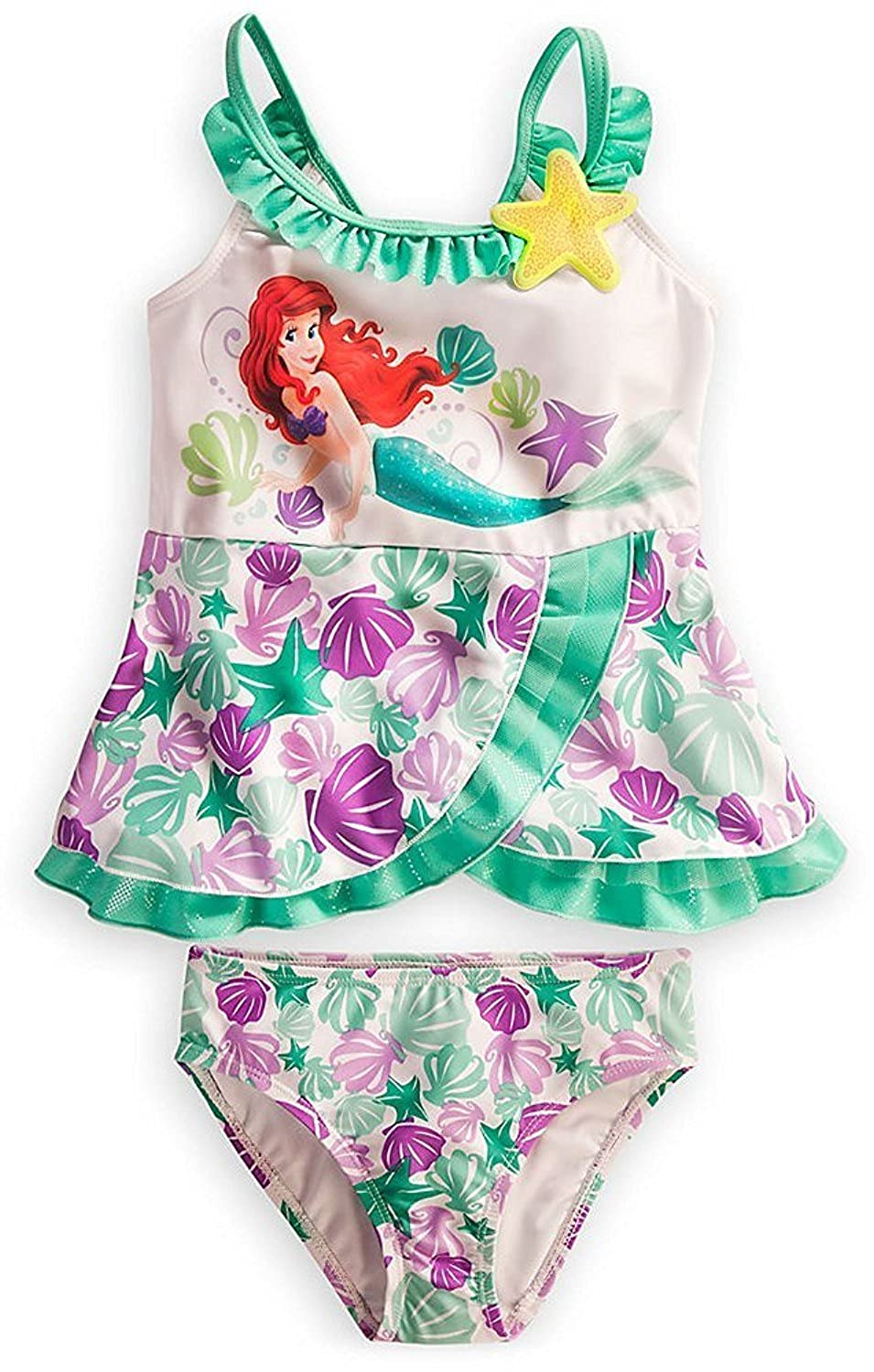 8ddb949a998ab Amazon.com: Disney Store Princess Ariel The Little Mermaid Swimsuit: Deluxe  2-Piece Swimwear: Clothing