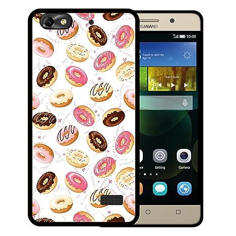 WoowCase Funda Huawei G Play Mini - Huawei Honor 4C, [Huawei G Play Mini - Huawei Honor 4C ] Funda Silicona Gel Flexible Donuts, Carcasa Case TPU ...