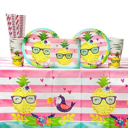 Amazon.com: Piña N amigos fiesta de cumpleaños suministros ...