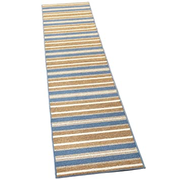Amazon Com Collections Etc Extra Long Striped Skid Resistant Floor