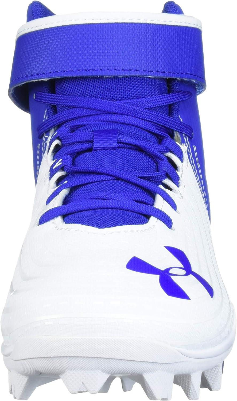 Royal //White 10.5 Under Armour Mens Harper 4 Mid RM Baseball Shoe 400