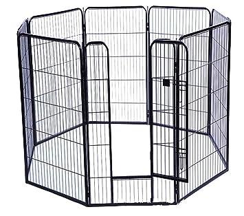 YFASD Jaula para Mascotas Perros Plegable Valla Portátil Mascotas ...