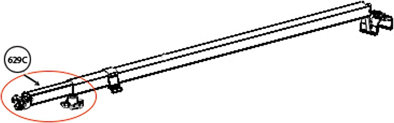 Camper Holder for RV Motor Home Baggage Doors White Clip Trailer CampN -12 Pack- Baggage Door Catch