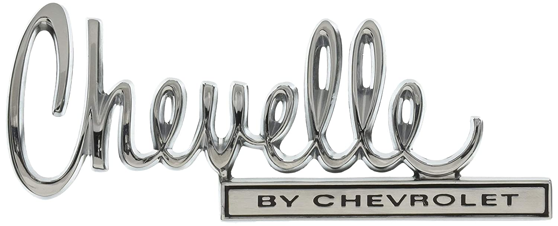 """Trim Parts 4676 Trunk Lid Emblem 1970 Chevelle /""""Chevelle By Chevrolet/"""""""