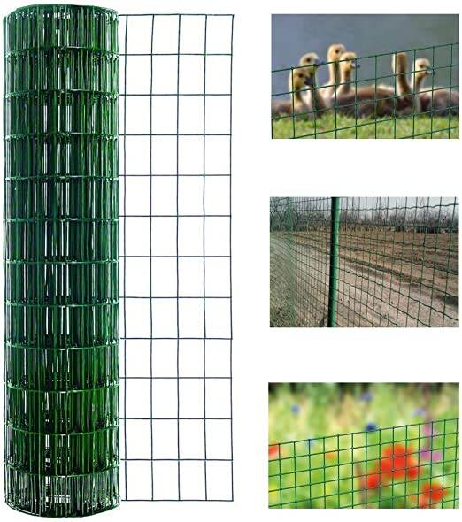 uyoyous - Valla de jardín con Revestimiento de PVC, 30 m x 1 m, Malla de Alambre de Acero galvanizado: Amazon.es: Jardín