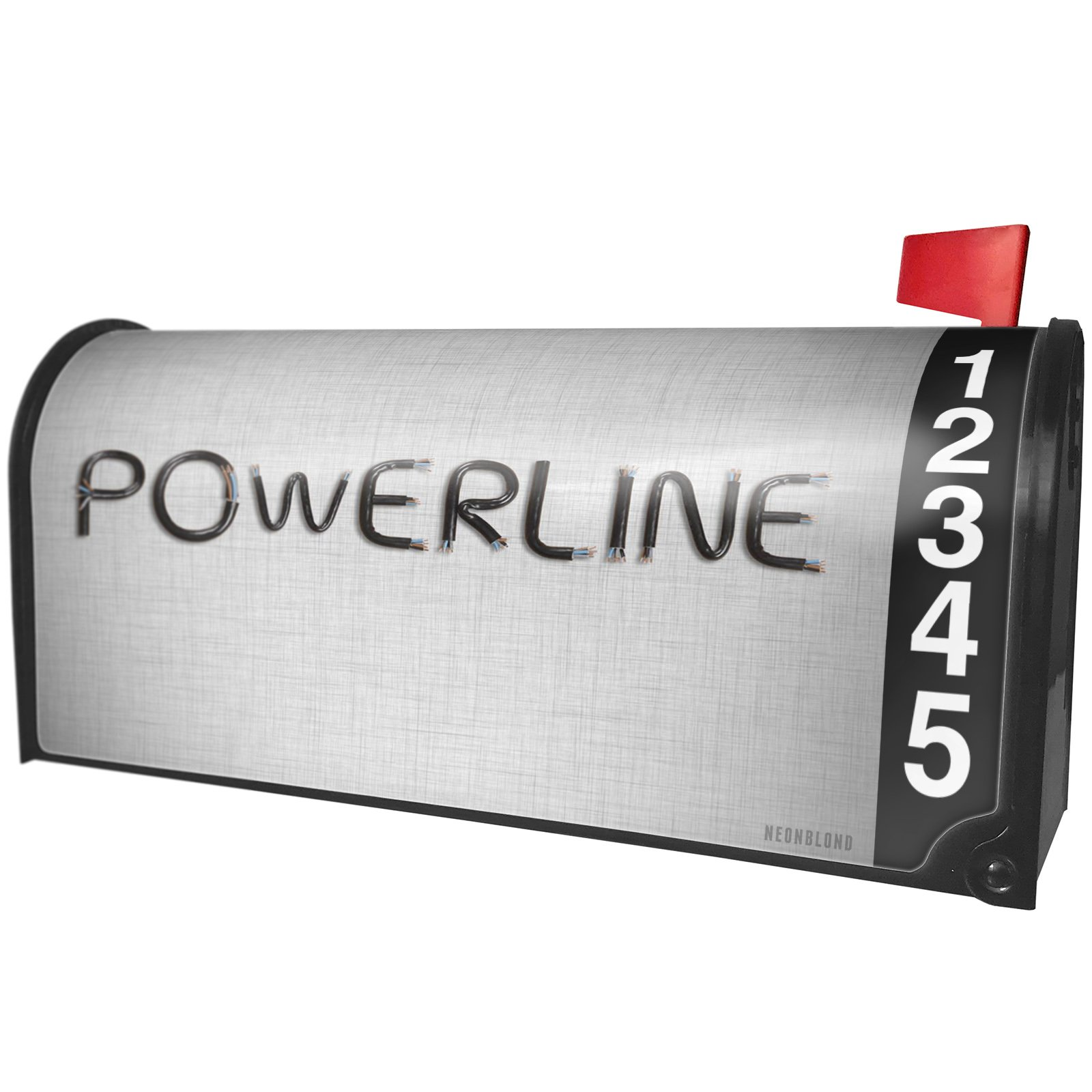 NEONBLOND Powerline Electronics Wires and Cables Magnetic Mailbox Cover Custom Numbers