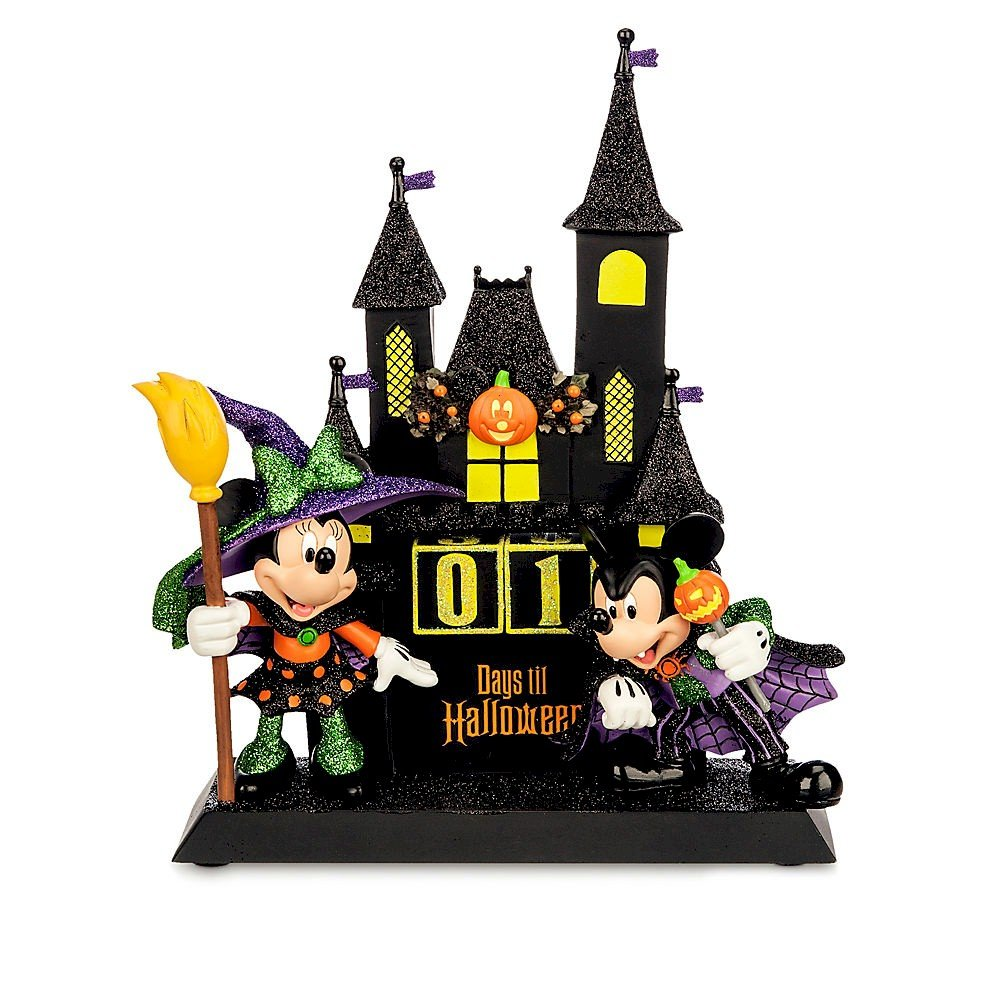 amazoncom disney minnie and mickey mouse sculpted halloween countdown calendar home kitchen - Mickey Minnie Halloween