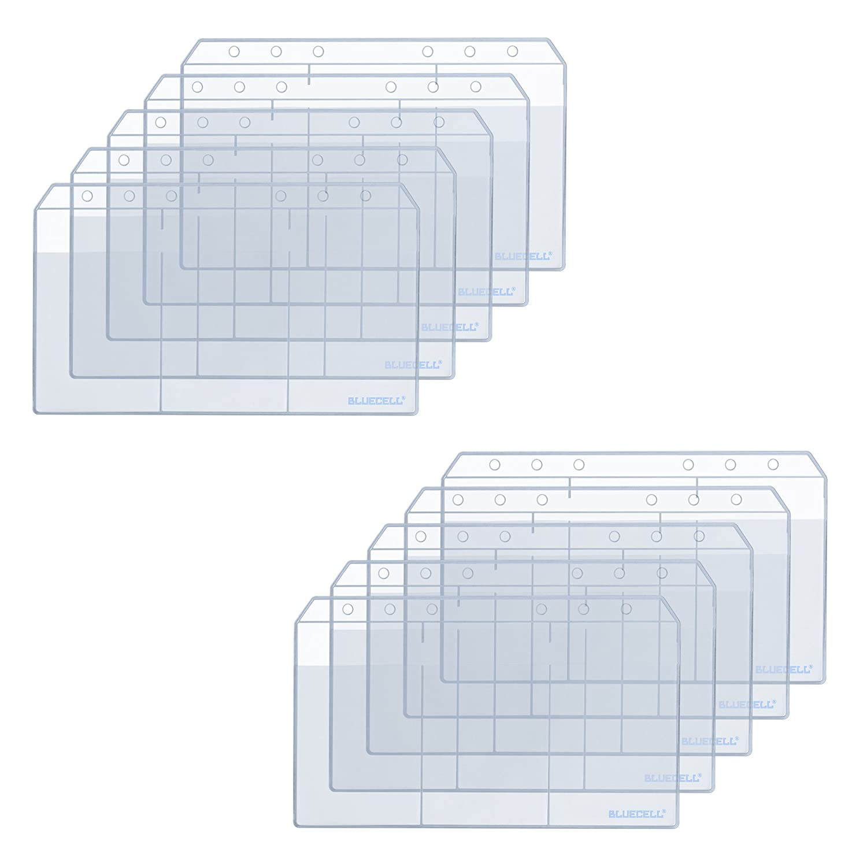 BCP 10PCS A6 3 Pockets Business Card and Credit Card Holder Card Binder Pocket